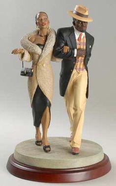 Ebony Visions-Figurine Steppin' Out - No Box by Thomas Blackshear African American Figurines, African American Dolls, Black Love Art, My Black Is Beautiful, Thomas Blackshear, Black Figurines, African Sculptures, Art Africain, Black Artwork