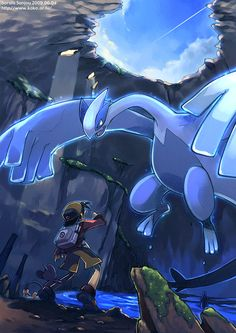 Pokemon Soul Silver- How you feel when you encounter Lugia Pokemon Gif, Lugia Pokemon, Pokemon Legal, Gold Pokemon, Pokemon Fan Art, Tous Les Pokemon, Pokemon Especial, Images Kawaii, Kino Film