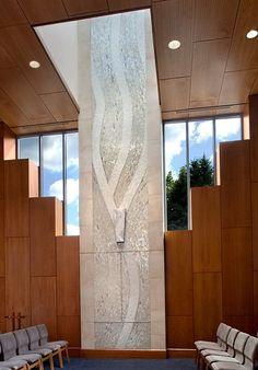 """Pillar of Light"" Ark Wall Mosaic Recycled Luminous Glass Tile Public Art, Mosaic Art, Recycling, Ark, Glass, Tile, Space, Home Decor, Floor Space"