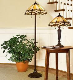 Stained Glass Diamond Table Lamp   Lamps   Plow