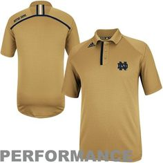 adidas Notre Dame Fighting Irish 2013 Coordinator Performance Polo - Gold
