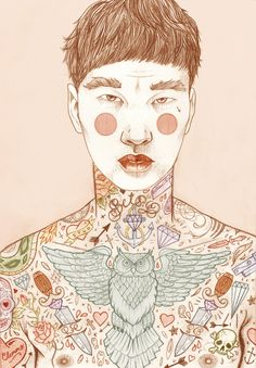 Lápis e tattoo por Liz Clements – BLCKDMNDS