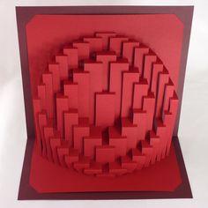 Plantilla DIY obloide Anillos Kirigami Pop-up de papel por Ullagami