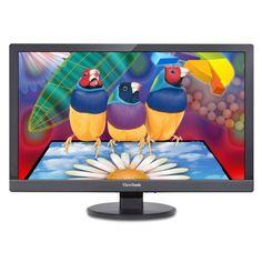 ViewSonic VA2455sm 24-Inch SuperClear Pro LED-Lit Monitor (Full HD, True 8-bit, Flicker-Free, ViewMode) #viewsonic #personalcomputers
