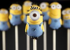 #DespicableMe2 Minion Cake Pops
