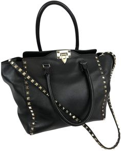 beef1a301d07 Rockstud leather crossbody bag Valentino Black in Leather - 6141251