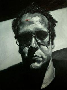 Selfie 3, oil on canvas, 80x40cm, 2013 www.ewoudbakker.com