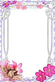 Molduras e Bordas Decorativas Gratis Para Enfeitar Cartas Aniversários