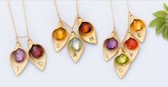 Christmas GIft Personalized Jewelry Gift - OOAK - Personalized Birthstone Jewelry- Custom Initial Jewelry - Personalized Necklace - Name Necklace - Calla Lilly