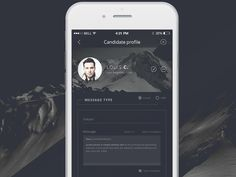 Talent Scout - Send message - iPhone 6 app by Robert Berki Send Message, Iphone 6, Messages, Templates, Ui Design, Text Posts, Stencils, Template