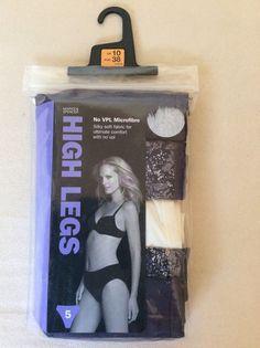 M&S 5 pack HIGH LEGS Microfibre Silky Soft Ultimate Comfort UK10 BNIP RRP£12 | eBay