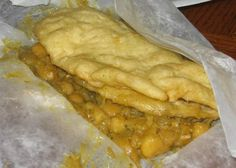 Trinidad and Tobago Indian Cuisine,  Doubles, a favorite street food in Trinidad and Tobago