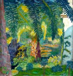 Pierre Bonnard, Palm Trees at Le Cannet, 1924