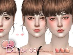 Blush for all age. 9 colors, hope you like. Thanks.  Found in TSR Category 'Sims 4 Female Blush'