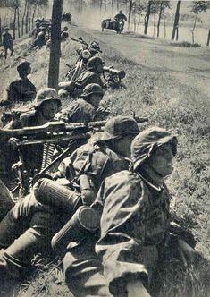 SS machine gun positions