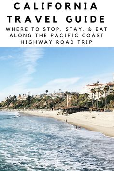"""Ready for the road trip of your lifetime? If you're looking to do a fun road trip along California's Pacific Coast Highway, look no further than this handy travel guide to get you there. In this travel guide to Highway 1, you'll get an itinerary with all your stops, drive times, as well as """"good to know"""" information before and during your trip. Buckle up! Here we go!"""