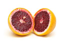 Blood Orange: From the outside, a blood orange looks like an ordinary orange. Expose its crimson flesh, however, and you'll appreciate the macabre name. Enjoy its striking color and wonderful sweet-tart flavor juiced or sectioned into salads. To segment, cut off the ends of the fruit so that it stands flat, cut away the peel and pith, and insert your paring knife between each segment and membrane—on both sides—until the segments fall free.