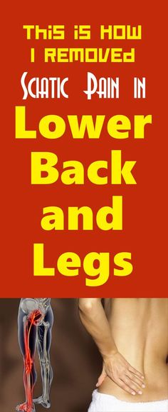 HOW I REMOVED SCIATIC PAIN IN LOWER BACK AND LEGS – (VIDEO)