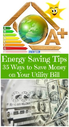 Energy Saving Tips – 35 Ways to Save on Your Utility Bill There are many things that you can do to save electricity and ultimately save money. Most of these take very little time and cost nothing. Money saving tips, saving money, Energy Saving Tips, Saving Ideas, Save Energy, Ways To Save Money, Money Tips, Money Saving Tips, Managing Money, Vivre Bio, Just In Case