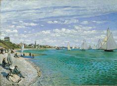 Claude Monet, Regata en Sainte-Adresse, 1867. Óleo sobre lienzo, 75.2 x 101.6 cm, Metropolitan Museum of Art, Nueva York.