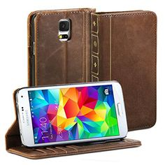 Galaxy S5 case, GMYLE(R) [Book Style] Samsung Galaxy S5 Wallet Case [Vintage] [Brown] + Crazy Horse Pattern PU Leather Filp Case Cover for Galaxy S5 / Galaxy SV / Galaxy S V (2014) - Retail Packaging - Brown GMYLE http://www.amazon.com/dp/B00KGNX6SY/ref=cm_sw_r_pi_dp_Dt2Ivb07R1PA1