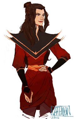 """kigozulaa: """" By Kathuon I loove these Azula fanarts so much!! Her clothes and her hairstyles are always so creative and gorgeous. I admire people who can draw/paint. Especially when it's about Azula..."""