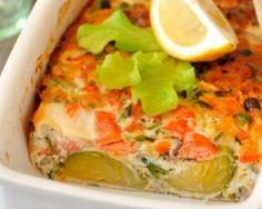 Recette de Terrine de courgettes au fromage de chèvre frais et saumon fumé