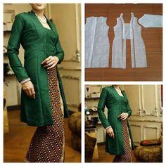 24 Best Ideas For Sewing Blouse Diy Batik Kebaya, Kebaya Dress, Batik Dress, Kimono, Dress Making Patterns, Skirt Patterns Sewing, Batik Fashion, Fashion Sewing, Designer Blouse Patterns