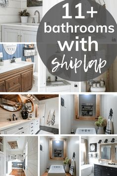 Are you thinking of installing shiplap into your bathroom? Get inspired with these 11+ ideas to help get you started on your bathroom renovation! #decor #shiplap #DIY Shiplap Bathroom Wall, Shiplap Diy, Installing Shiplap, Faux Shiplap, Bathroom Styling, Bathroom Interior Design, Bathroom Storage, Modern Farmhouse Bathroom, Modern Farmhouse Style