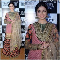 Celebrity Style,Sabyasachi,divya khosla kumar,Lakme Fashion Week Winter Festive 2016,LFW 2016