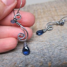 Frozen Tendrils earrings ... wire wrapped by ElementsArtifacts