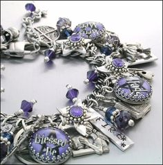 Wiccan Charm Bracelet Wicca Jewelry Wiccan by BlackberryDesigns, $87.00 ( Now 149.00 on the site )
