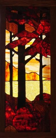 "Redwood Trees 11 x 30"" Stained Glass Pattern. PDF VERSION"