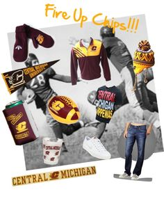 """Fire Up Chips!"" by cmubookstore on Polyvore"