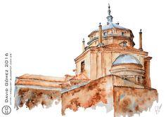 Acuarela de Tavera (Toledo) por ArquArt. http://arquart.blogspot.com.es/2016/10/tavera-toledo.html