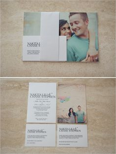 photo wedding invites
