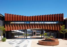 Branch Studio Architects embellishes school flyover with Corten