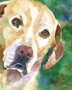 Labrador Retriever Art Print of Original Watercolor Painting - 11x14 Yellow Lab on Etsy, $24.50