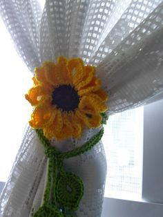 Prendedor de cortina - Girassol