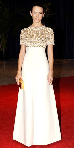 Kristin Davis in a vintage Balmain couture at the Annual White House Correspondents' Association Dinner (May 3, 2012)