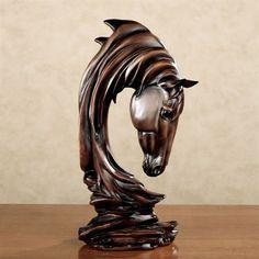 Horse Solitude Sculpture Brown