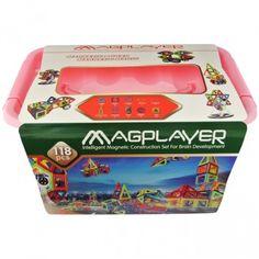 MAGPLAYER Joc de constructie magnetic - 118 piese Magnets, Decorative Boxes, Home Decor, Geometry, Playmobil, Decoration Home, Room Decor, Home Interior Design, Decorative Storage Boxes