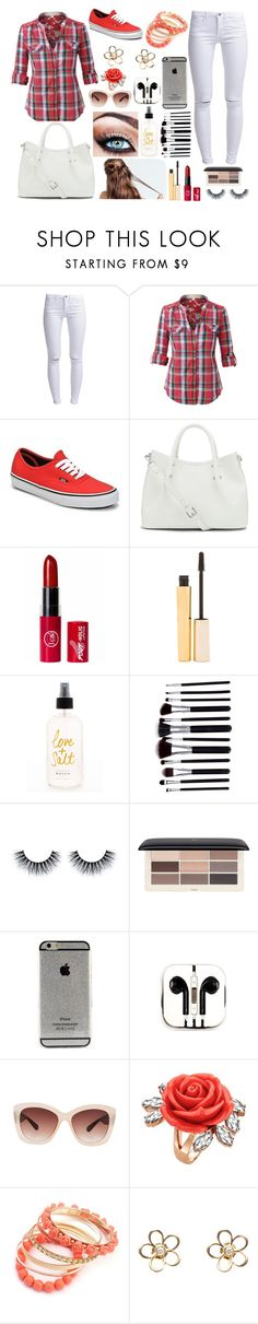 """""""Untitled #123"""" by beth040501 ❤ liked on Polyvore featuring ONLY, Vans, Vince Camuto, Stila, H&M, PhunkeeTree, Eloquii, Mawi and CO"""