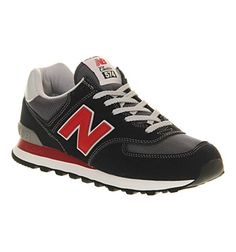 3b958e05e1a New Balance New Balance M574 Navy Red - His trainers