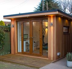 Make the most of extra space outside with a garden office, studio or kitchen — plus learn about the practicalities of Backyard Office, Backyard Studio, Garden Office, Outdoor Office, Modern Shed, Modern Tiny House, Shed To Tiny House, Tiny House Cabin, Steel Framing