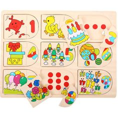 This Bigjigs Toys Picture & Number Matching Puzzle by Bigjigs Toys is perfect! Number Matching, 1 Year Olds, Numeracy, Learning Toys, Dexter, Educational Toys, Little Ones, Numbers, Puzzle