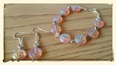 Mother's Day Special  Pink Spiral Glass & Pewter by Panache808, $25.00