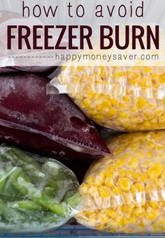 How To Avoid Freezer Burn ~ tips to help prevent freezer burn for your freezer meals