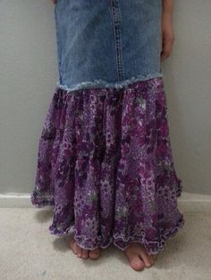 lengthen a denim skirt. can i do this with the pants i was gonna throw away?