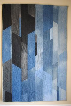 Jeans quilt by Katie Larson, featured at My Stars Blog